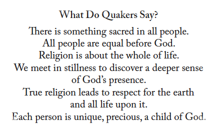 What do Quakers Say
