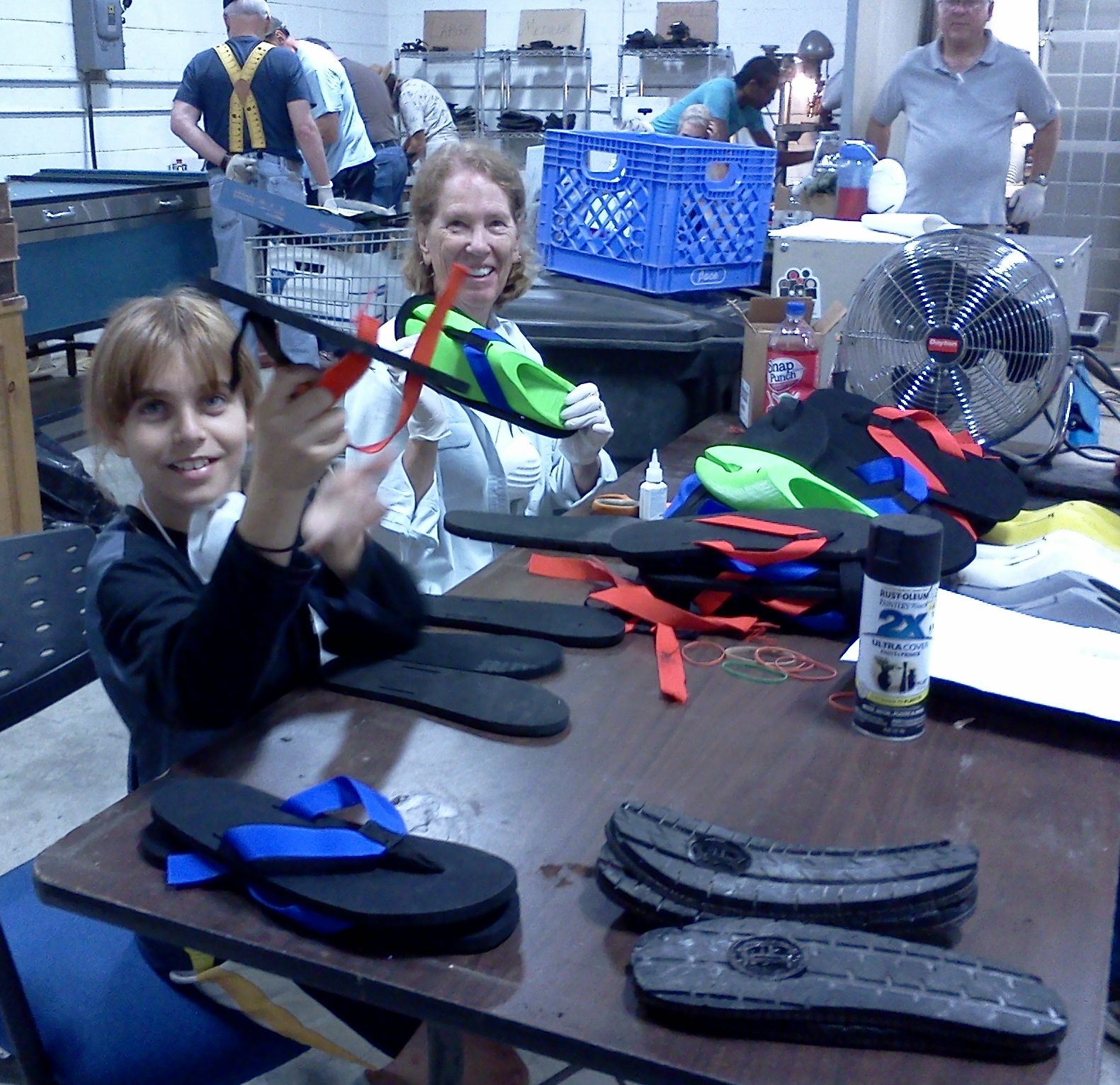 LEYM Work Team Making Shoes Detroit 2014