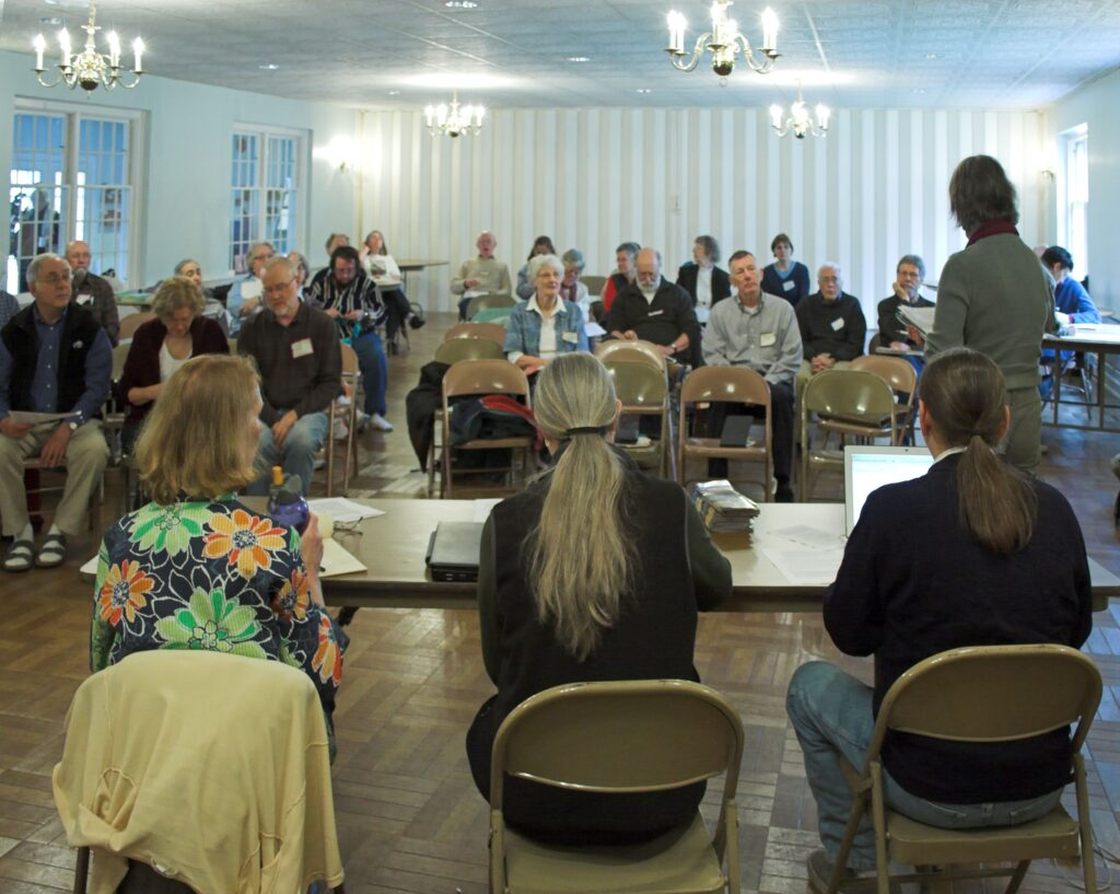 Representative meeting in Toledo Ohio as seen from behind the clerk's table.