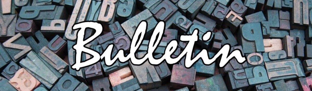 Spring Bulletin Submissions Due May 15