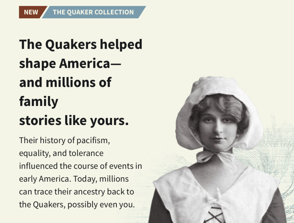 Intro to Quaker Collection at Ancestry.com