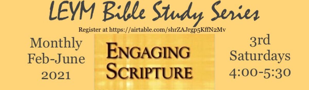 New Bible Study Program Begins February 20th